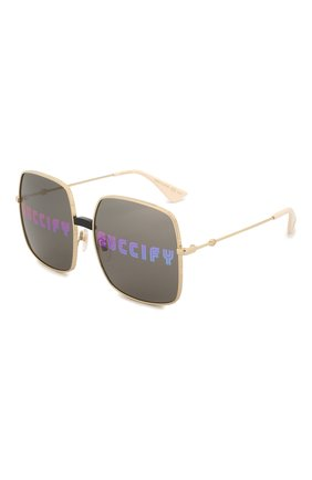 Солнцезащитные очки Gucci золотые | Фото №1