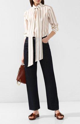 Женские кожаные сабо CHLOÉ светло-коричневого цвета, арт. CHC19U17879 | Фото 2