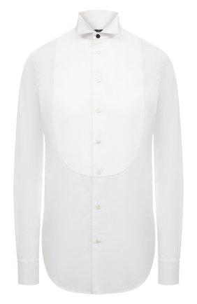Женская хлопковая рубашка RALPH LAUREN белого цвета, арт. 290615560 | Фото 1