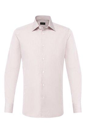 Мужская хлопковая сорочка ERMENEGILDO ZEGNA бежевого цвета, арт. 501332/9MS0PA | Фото 1