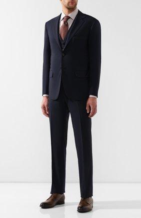 Мужской шерстяной костюм-тройка KITON синего цвета, арт. UAGL81K01X37 | Фото 1