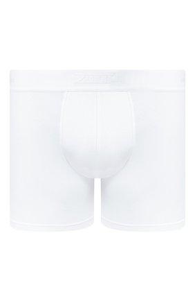 Мужские хлопковые боксеры ZILLI белого цвета, арт. 612BXM10 | Фото 1