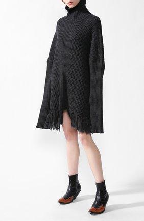 Удлиненный пуловер | Фото №1