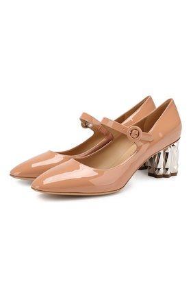 Кожаные туфли Mary Jane | Фото №1