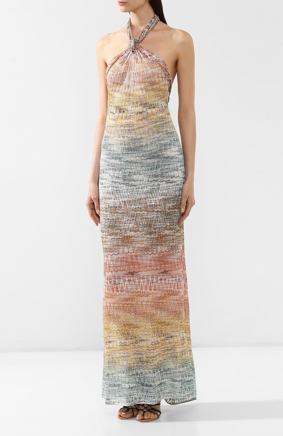 Платье из вискозы Missoni разноцветное | Фото №3