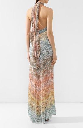 Платье из вискозы Missoni разноцветное | Фото №4