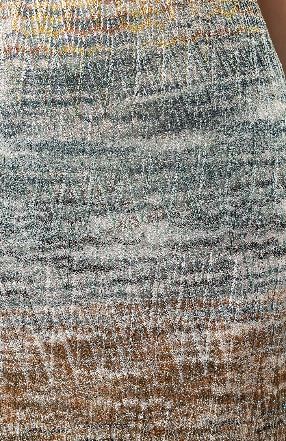 Платье из вискозы Missoni разноцветное | Фото №5