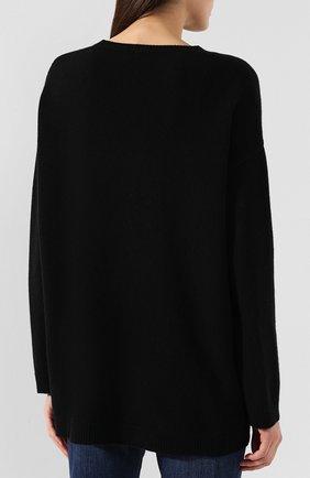 Женский пуловер из смеси шерсти и кашемира VALENTINO черно-белого цвета, арт. SB3KC1284AJ | Фото 4