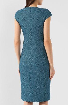 Платье с разрезом St. John зеленое | Фото №4