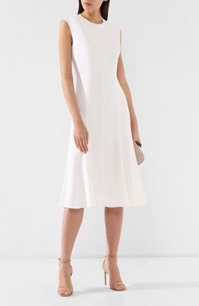 Женское платье из вискозы ST. JOHN белого цвета, арт. K11WW01 | Фото 2
