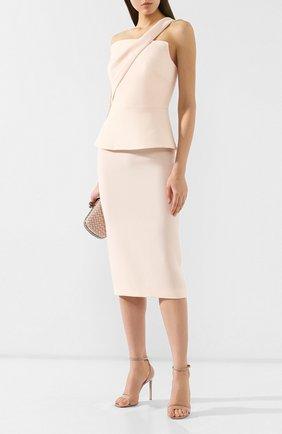 Женская шерстяная юбка ROLAND MOURET бежевого цвета, арт. EW19/S4134/F4044 | Фото 2